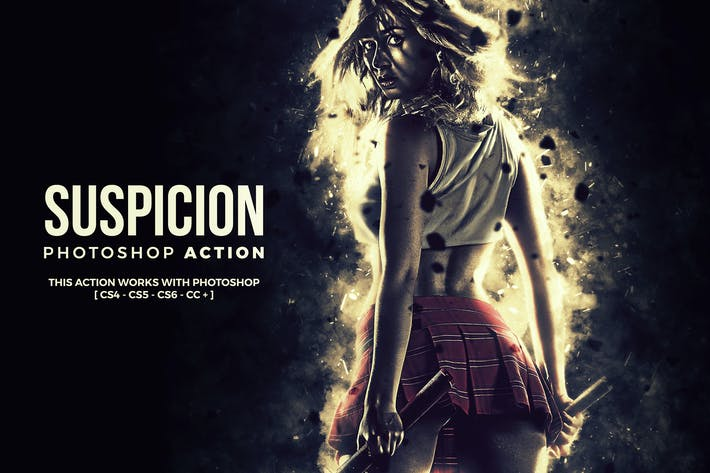 Thumbnail for Suspicion Photoshop Action