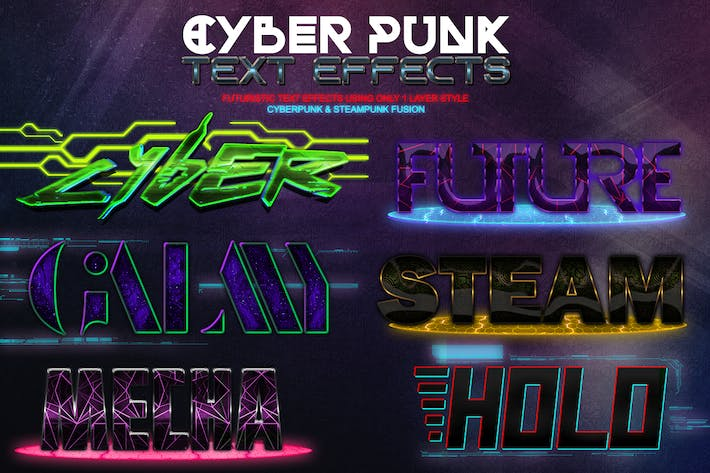 Thumbnail for Cyber Punk Text Effects