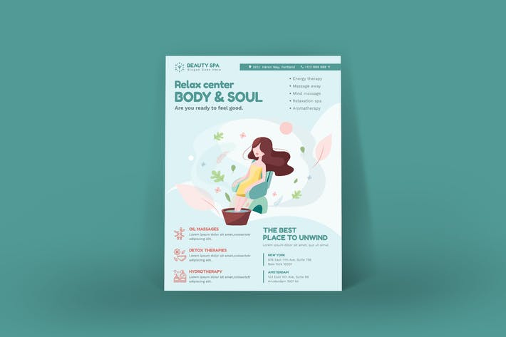 Thumbnail for Beauty Spa Poster PSD Template