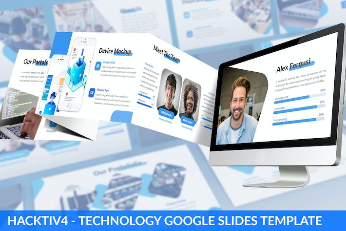 Thumbnail for Hacktiv4 - Technology Google Slides Template