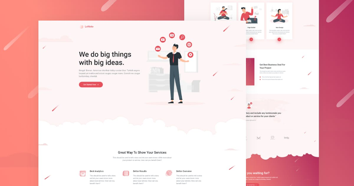 Download LeNoto - Isometric Business HTML Landing Page by zytheme