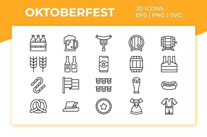 Thumbnail for Oktoberfest Icon Set
