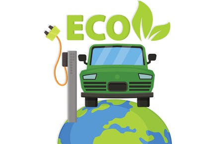 Eco Car Banner Design
