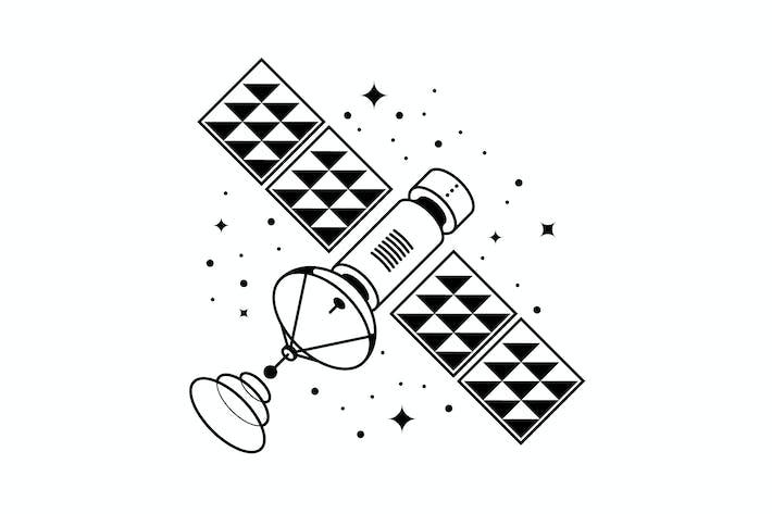 Thumbnail for Satellite vector illustration