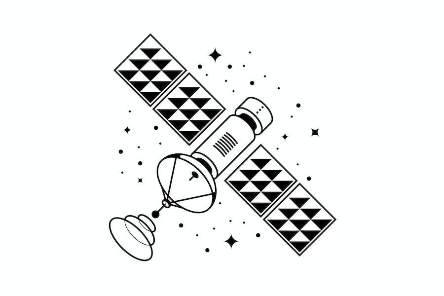 Satelliten-Vektor Illustration