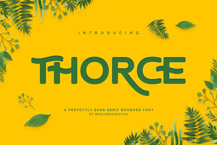 Cover Image For Thorce Rounded Sans Font