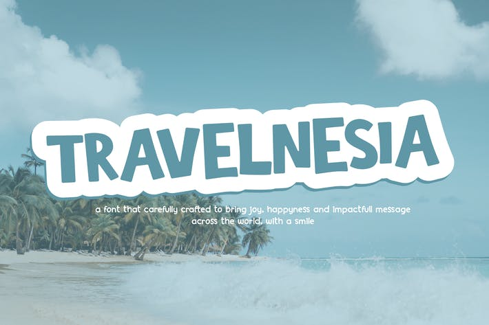TRAVELNESIA - Fun Cartoony Font