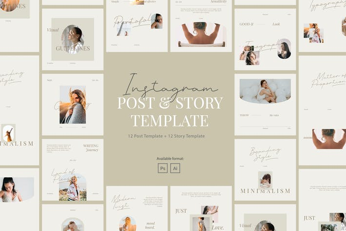 Thumbnail for Minimalist Beauty Instagram Post Story Template