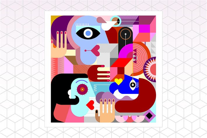Thumbnail for Three People Abstract Art vector illustration