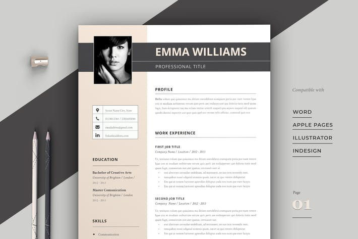 Thumbnail for Resume Template / Cv