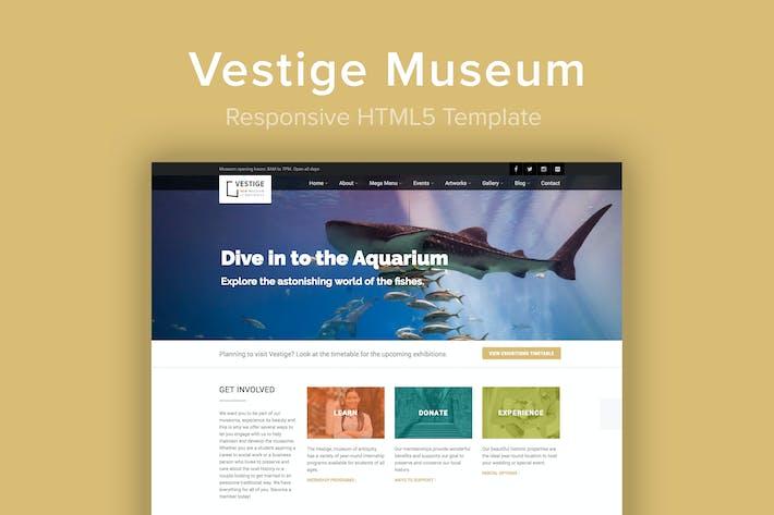 Thumbnail for Vestige Museum - Responsive HTML5 Template