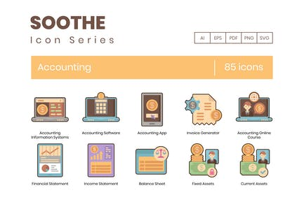 85 Accounting Icons