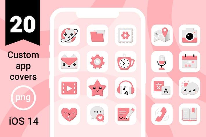 iOS 14 App Icons | süß und rosa