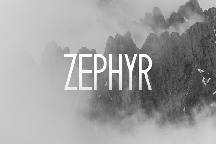 Thumbnail for Zephyr Typeface