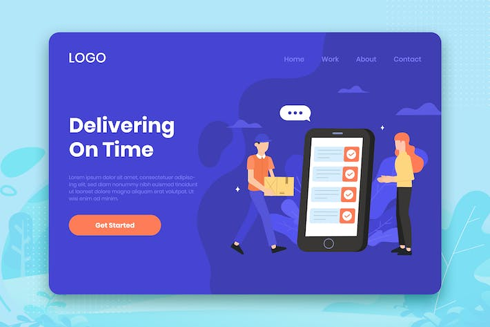 Thumbnail for Delivery service landing page template