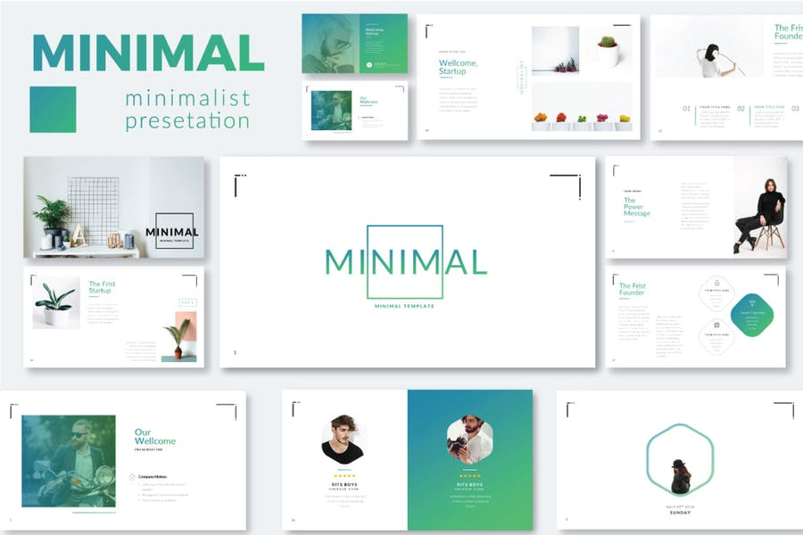 Минимальный минималистский Шаблон Keynote