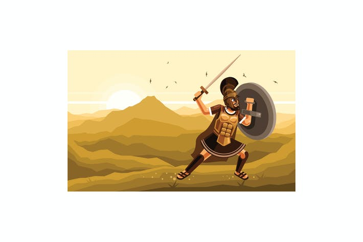 Thumbnail for Warrior Character Graphics Vector Illustration