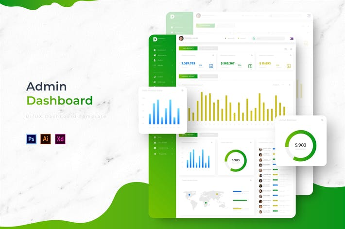Thumbnail for D-Admin Dashboard | Admin Template