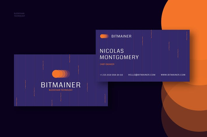Thumbnail for Bitmainer Blockchain Business Card Template