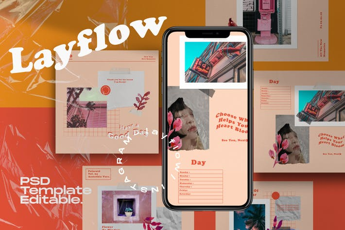 Thumbnail for Layflow - Instagram Social Media Vorlage