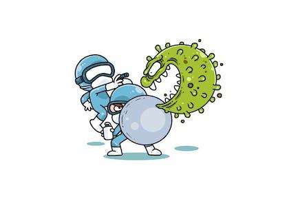 Fighting against Coronavirus - Character RG