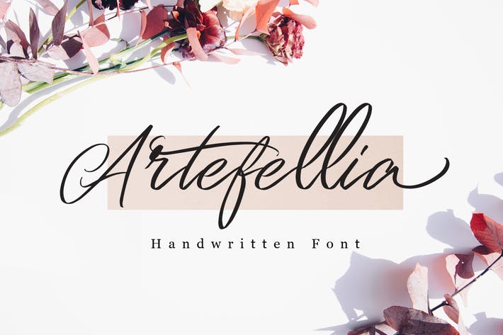 Thumbnail for Artefellia - Handwritten Font