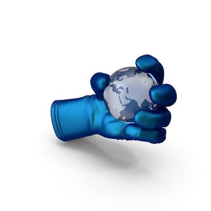 Handschuh Holding Kristallerde