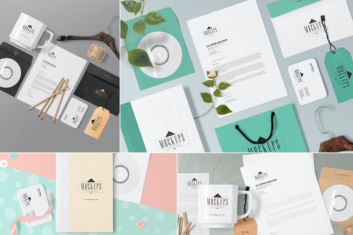 Cover Image For 4 Stationery Mockups Scenes