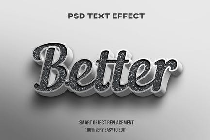 Efecto de texto concreto 3D