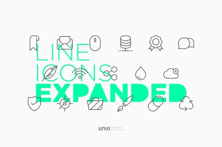 Thumbnail for Icones de ligne développées