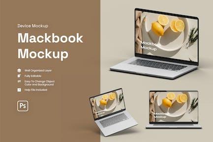 3D macbook mockup