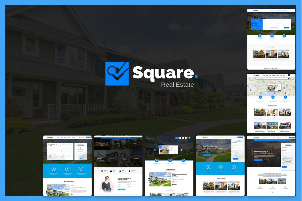Download Square - Professional Real Estate PSD Templates by mexopixel by Unknow