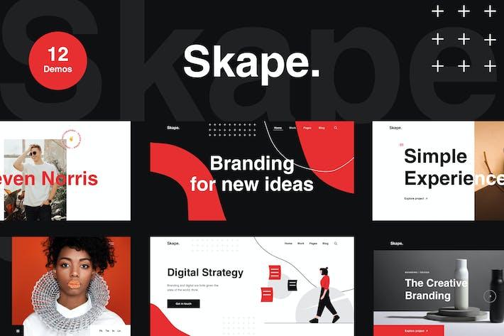 Thumbnail for Skape - Kreative & Moderne Agentur WordPress Thema