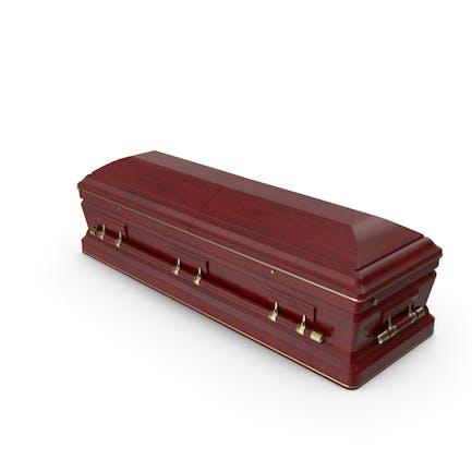 Ataúd funerario de madera de diseño