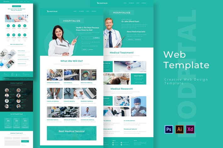 Thumbnail for Hospitalize Web Template