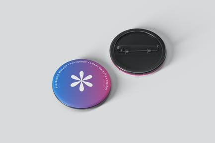 Pin Badge Mockups