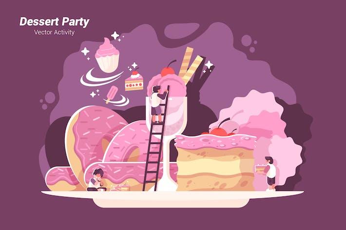 Thumbnail for Dessert Party - Vector Illustration