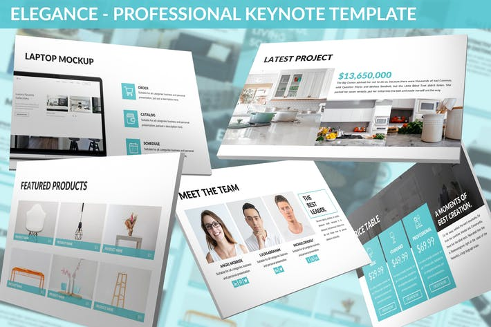 Thumbnail for Elegance - Professional Keynote Template