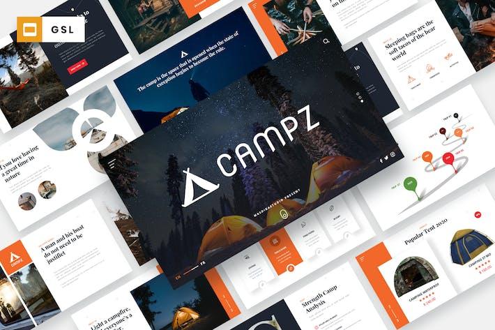CAMPZ - кемпинг & караван Шаблон слайдов