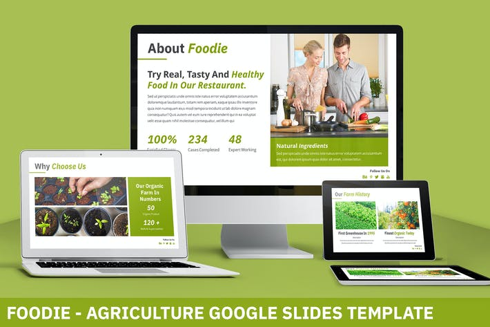 Thumbnail for Foodie - Fresh Google Slides Template