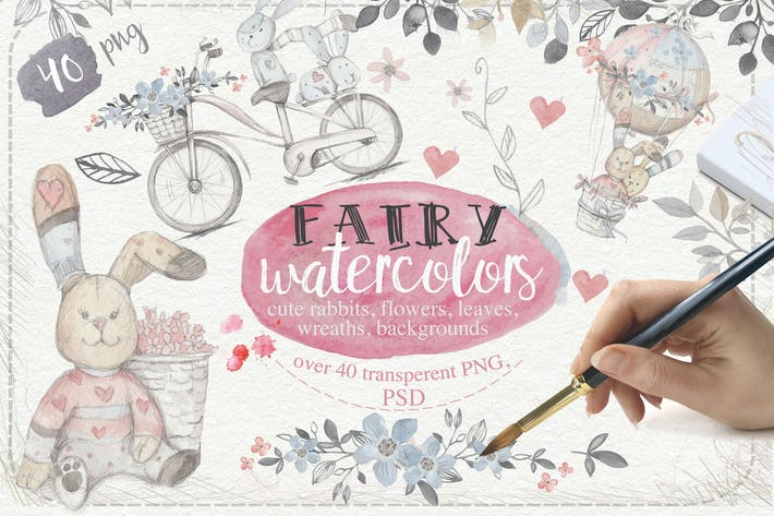 Thumbnail for Fairy watercolors 40 PNG