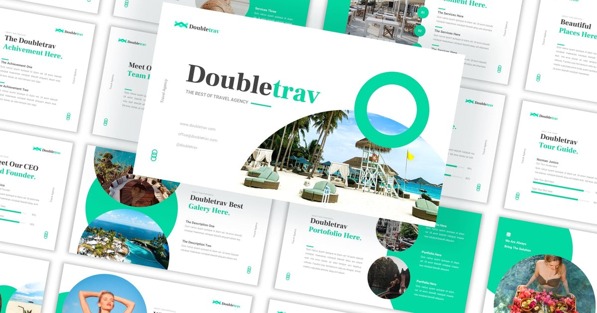 Download Doubletrav - Travel Agency Keynote Template by CocoTemplates