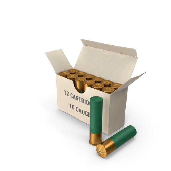 Box of 10 Gauge Shotgun Shells