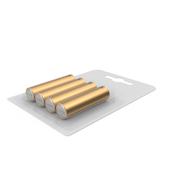Thumbnail for 4 Pack Metal Battery AA Gold
