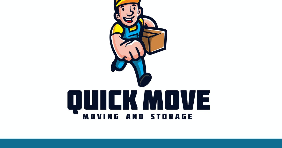 Download Vintage Retro Running Mover - Moving Service Logo by Suhandi