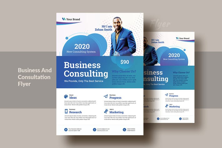 Cover Image For Business And Consultation Flyer Template