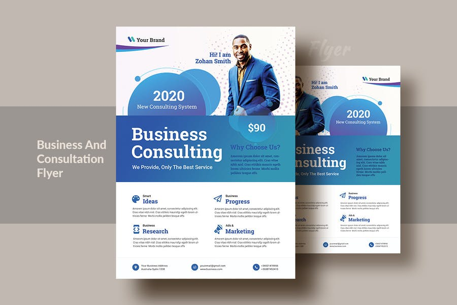Business And Consultation Flyer Template