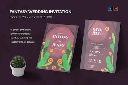 Fantasy Woods - Wedding Invitation