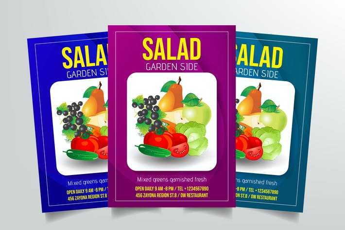 Thumbnail for Salad Flyer Template