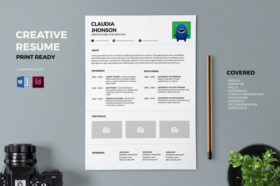 Resume / CV Template Pro - product preview 0